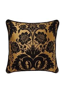 Mystic Valley Traders Black Damask Pillow (Black/Bronze)