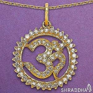 Shraddha American Diamond Brass Pendant