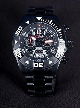 Carbon 14 W17 - Reloj Caballero Movimiento Quarzo Brazalete Metálico Negro