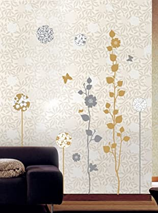 Ambiance Live Vinilo Adhesivo Elegant Sand And Grey Trees Wall Decals