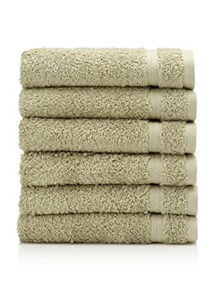 Royal Ascot by Chortex Set of 6 Hand Towels, Sage