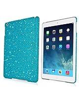 BoxWave Apple iPad Air SparkleMe Case - Cute Rhinestone Embellished Bling Girly Sparkle Glamourous Gem Case - Apple iPad Air Cases and Covers (Aquamarine)