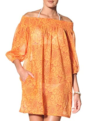 French Connection Women's Flora & Fauna Beach Off-The-Shoulder Cover Up