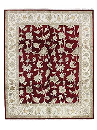 Bashian Rugs Fine Agra With Silk Rug, Red, 8' 2