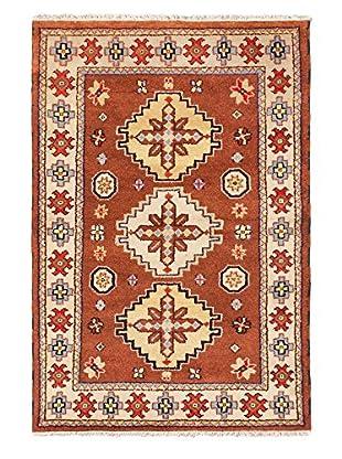 Hand-Knotted Royal Kazak Brown Rug, Brown, 4' x 6'