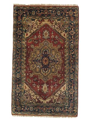 Rug Republic One Of A Kind Indo-Serapi Hand Knotted Rug, Antique Red/Multi, 3' x 4' 11