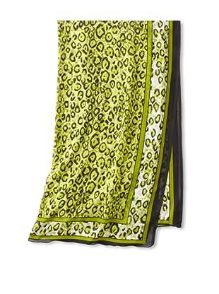 Raj Imports Women's Cheetah Print Scarf, Green