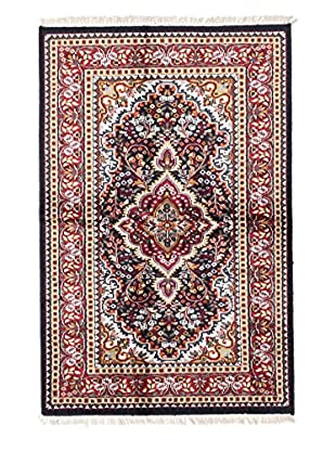 eCarpet Gallery One-of-a-Kind Hand-Knotted Kashmir Rug, Dark Navy, 3' 11