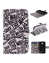 L70 Case LG L70 Case LG L70 Flip Kickstand Case,Tribe-Tiger Stylish Vans Off The Wall Design Premium Leather Magnet Slim Flip Kickstand Case Cover for LG Optimus L70