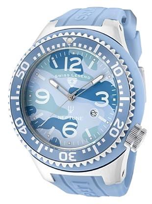 Swiss Legend Reloj Cuarzo Neptuno Camuflaje azul