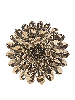 Metallic Medium Ceramic Wall Flower