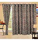 Cortina Brown Wave Door Curtain - 7Ft