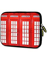 Amzer 7.0 - 7.75 Inches Designer Neoprene Sleeve Case for iPad/Tablet/e-Reader and Notebooks, Red Phone Boxes (AMZ5230077)