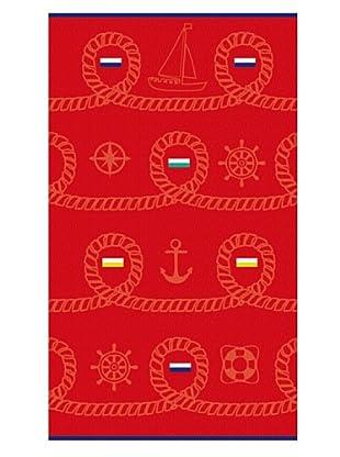 Secaneta Toalla Jacquard Sailor Rojo