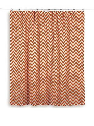 Rizzy Home Orange Chevron Shower Curtain