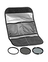 Hoya 77mm (HMC UV / Circular Polarizer / ND8) 3 Digital Filter Set with Pouch by Hoya