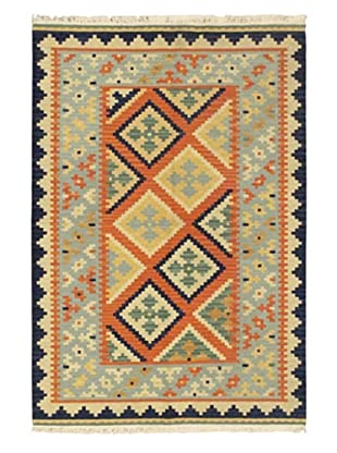 Hand Woven Kashkoli Wool Kilim, Dark Copper, 4' x 6'