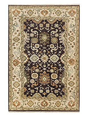 eCarpet Gallery One-of-a-Kind Hand-Knotted Royal Ushak Rug, Dark Brown, 6' x 8' 11