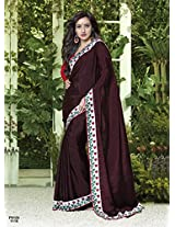 Neha Sharma in New Arrival Dark Rani Pink Designer Saree FS124-1110