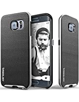 Galaxy S6 Edge case, Caseology [Envoy Series] [Metallic Mesh Silver] Premium Leather Bumper Cover [Leather Textured] Samsung Galaxy S6 Edge case