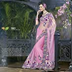 Designer Net Embroidered Saree - 803