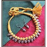[N16O_021] Yellow Thread Necklace 01