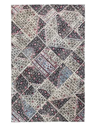 Bashian Rugs One-of-a-Kind Hand Knotted Paki Patchwork Rug, Multi, 4' 9