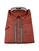 Linen Club Formal Shirt Light red