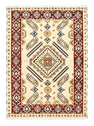 Hand-Knotted Royal Kazak Wool Rug, Cream, 4' 7