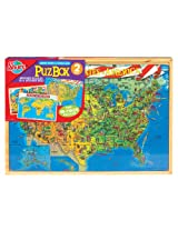 US Map & World Map - 2 Puzzles Set - Shure
