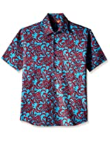 Very Me Men's Casual Shirt_1145_Pink and Blue_38