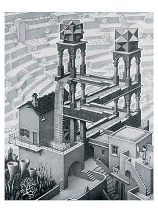 ArtopWeb Panel de Madera Escher Waterfall,1961 - 42X53 cm
