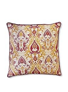 "Jiti Turkish Crown 20"" x 20"" Pillow (Gold/Red)"