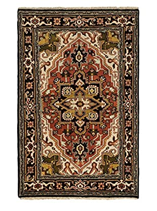 Hand-Knotted Royal Heriz Wool Rug, Copper, 3' 11