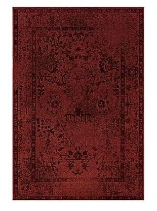 Granville Rugs Vintage Rug (Red/Grey/Black/Purple)