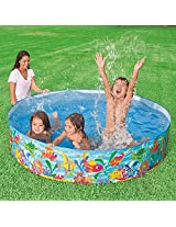 Children Kids Intex Snap Set Paddling Water Fun Pool - 5 feet (Colour & Design May Vary)