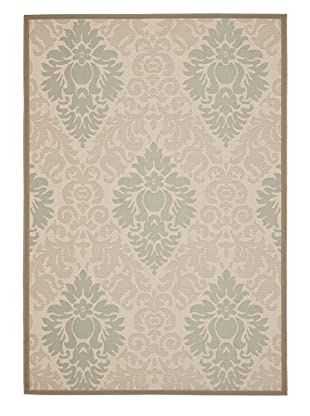 Indoor/Outdoor Tonal Pattern rug (Tonal Beige/Dark Beige)