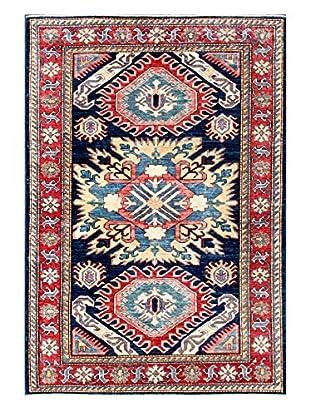 Bashian Rugs Hand Knotted Fine Kazak, Dark Blue, 4' 1