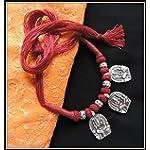 Ganesha Thread Necklace - Maroon