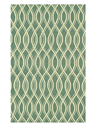 Venice Beach Indoor/Outdoor Rug (Turquoise/Ivory)
