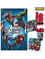 Avengers Party Pack Includes Plates, Cups, Napkins And Tablecover (16 Guests)