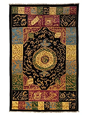 Darya Rugs One-of-a-Kind Tribal Rug, Black, 5' 4