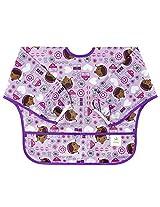 Bumkins Disney Baby Waterproof Sleeved Bib, Purple, 6 24 Months By Bumkins