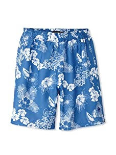 French Connection Men's Lagoon Swim Trunks (Cleo Blue)