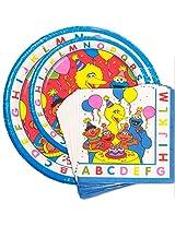 Sesame Street Party Supplies Super Set (8 Plates, 8 Desert Plates, 16 Napkins)