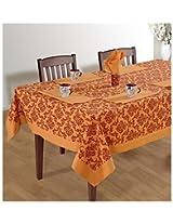 SWAYAM Cotton 8 Piece Kitchen Linen Set - Peach & Red