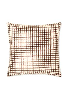 "Kerry Cassill Decorative Pillow, Brown/White Plaid, 20"" x 20"""