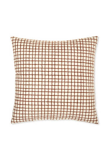 Kerry Cassill Decorative Pillow, Brown/White Plaid, 20