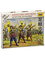 Zvezda Models 1/72 Ashigaru Archers - Japanese Samurai Snap Kit New Tooling