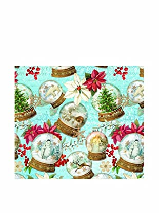Punch Studio Set of 8 Continuous Roll Gift Wrap (Snow Globes)